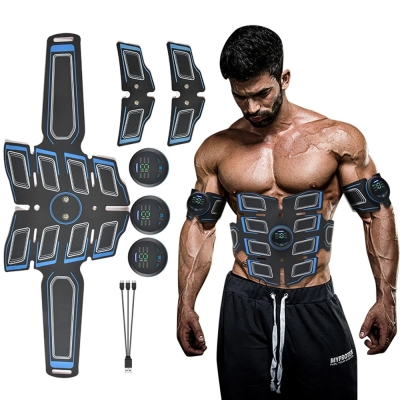 Abdominal Muscle Stimulator Trainer USB Connect Abs Fitness Equipment Training Gear Muscles Electrostimulator Toner Massage